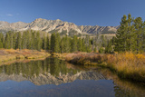 Reflection, Big Wood River, Autumn, Sawtooth NF,  Idaho, USA Photographic Print by Michel Hersen