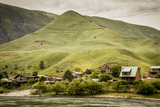 Idaho, Hells Canyon Reach of Snake River, a Cluster of Homes Photographic Print by Alison Jones