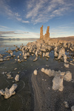 Tufas at Sunset on Mono Lake, Eastern Sierra Nevada Mountains, CA Photographic Print by Sheila Haddad