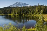 Evening, Mount Rainier, Reflection Lake, Mount Rainier NP, Washington Photographic Print by Michel Hersen