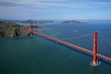 California, San Francisco, Golden Gate Bridge and San Francisco Bay Photographic Print by David Wall