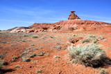 Mexican Hat Rock in the San Juan River Valley, on Highway 261, Utah Photographic Print by Richard Wright