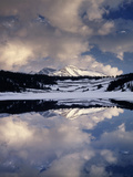 California, Sierra Nevada, Mammoth Peak Reflecting in a Frozen Lake Photographic Print by Christopher Talbot Frank
