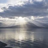Washington State, Seabeck. Composite of God Rays over Hood Canal Photographic Print by Don Paulson