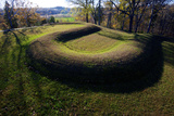 The Great Serpent Mound, a Prehistoric Effigy Mound on a Plateau, Ohio Photographic Print by Richard Wright