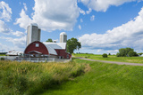 Eau Claire, Wisconsin, Farm and Red Barn in Picturesque Farming Scene Photographic Print by Bill Bachmann