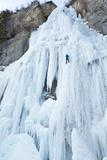 Ice Climber Ascending Stewart Falls, Utah, Sundance Resort Photographic Print by Howie Garber