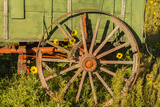 USA, South Dakota, Wild Horse Sanctuary. Close-up of Vintage Wagon Photographic Print by Cathy & Gordon Illg