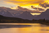 Sunset, Oxbow, Mount Moran, Grand Teton National Park, Wyoming, USA Photographic Print by Michel Hersen