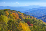 North Carolina, Great Smoky Mountains NP, View from Newfound Gap Road Photographic Print by Jamie & Judy Wild