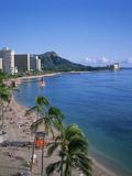 Waikiki, Oahu, Hawaii, USA Fotografisk tryk af Douglas Peebles