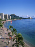 Waikiki, Oahu, Hawaii, USA Photographic Print by Douglas Peebles