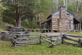 Tennessee, Great Smoky Mountains NP. John Oliver Place in Cades Cove Photographic Print by Don Paulson