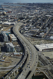 California, San Francisco, Southern Embarcadero Freeway, Aerial Photographic Print by David Wall