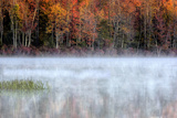 USA, Pennsylvania, Benton. Fog over Pond Photographic Print by Jay O'brien