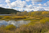 Autumn, Oxbow, Grand Teton National Park, Wyoming, USA Photographic Print by Michel Hersen