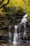 USA, Pennsylvania, Benton. Waterfall in Ricketts Glen State Park Photographic Print by Jay O'brien