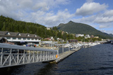 USA, Alaska, Ketchikan, Downtown Cruise Ship Docks Photographic Print by Savanah Stewart