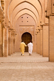 Morocco, Marrakech, Tinmal. Men Walking to the Great Mosque of Tinmal Photo by Emily Wilson