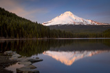 Sunset on Mount Hood from Trillium Lake, Cascade Mountains, Oregon Photographic Print by Brian Jannsen