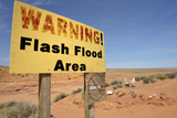 Arizona, Navajo Nation, Antelope Canyon, Hasdestwazi. Warning Sign Photographic Print by Kevin Oke