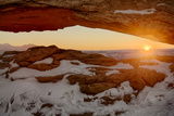 USA, Utah, Sunrise at Mesa Arch, Canyonlands National Park Photographic Print by John Ford