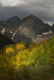 Colorado, Maroon Bells State Park. Storm over Maroon Bells Peaks Photographic Print by Don Grall