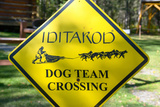 Close-up of an Iditarod Crossing Sign, Alaska Photographic Print by Rick Daley
