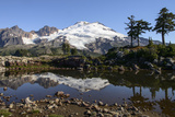 North Cascades, Washington. Mt. Baker and Reflection, on Park Butte Photographic Print by Matt Freedman