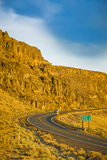 Washington, Vantage Car on Road Through Columbia River Basalt Group Photographic Print by Richard Duval