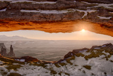USA, Utah, Sunrise at Mesa Arch, Canyonlands National Park, Dawn Photographic Print by John Ford