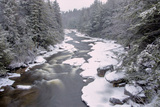 West Virginia, Blackwater Falls SP. Stream in Winter Landscape Photographic Print by Jay O'brien