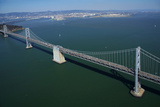 California, Bay Bridge, San Francisco Bay to Yerba Buena Island Photographic Print by David Wall