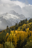 Colorado, Sneffels Range. Snow Clouds over Mt Sneffels at Sunset Photographic Print by Don Grall