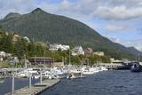 USA, Alaska, Ketchikan, Downtown Cruise Ship Docks Photographic Print by Savanah Stewart