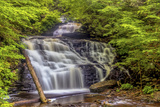 Pennsylvania, Benton, Ricketts Glen State Park. Mohican Falls Cascade Photographic Print by Jay O'brien