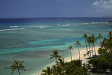 USA, Hawaii, Oahu, Honolulu, Waikiki, Fort Derussy Beach Park Photographic Print by David Wall