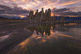 Tufas at Sunset on Mono Lake at Sunset, Sierra Nevada, CA Photographic Print by Sheila Haddad