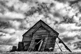 Washington. Abandoned Leaning Schoolhouse in Palouse Farm Country Photographic Print by Dennis Flaherty