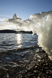 Canada, Nunavut Territory, Sunset Lights Melting Iceberg in Hudson Bay Photo by Paul Souders