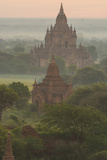 Myanmar. Bagan. Landscape of the Temples of Bagan at Sunrise Photo by Inger Hogstrom