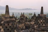 Borobudur at Dawn, UNESCO World Heritage Site, Java, Indonesia Photo by Keren Su