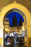 Blurred People Passing Through the Blue Gate, Fez, Morocco Photo by Peter Adams
