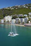 Fountain, Oriental Bay, and Mt Victoria, Wellington, New Zealand Photo by David Wall