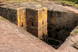 Saint George Church Chiseled Out of Bed Rock. Ethiopia, Africa Photo af Tom Norring