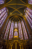 Stained Glass Windows of Sainte Chappelle, Paris, France Photo by Brian Jannsen