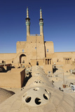 Iran, Yazd, Zoroastrian Complex of Amir Chakma with Bazaar Roofs Photo by Anthony Asael