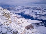 Snow Covered Grand Canyon, South Rim, Grand Canyon NP, Arizona Photographic Print by Greg Probst