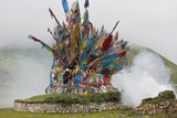 Buddhist Prayer Flags at Horse Festival, Tibetan Area, Sichuan, China Photo by Peter Adams
