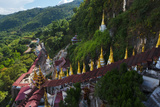 Pagodas and Stairs Leading to Pindaya Cave, Shan State, Myanmar Photo by Keren Su